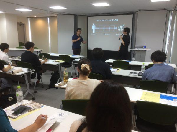 講評する星野さんと田口さん